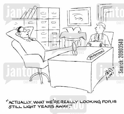 still looking cartoon humor: 'Actually, what we're really looking for is still light years away.'