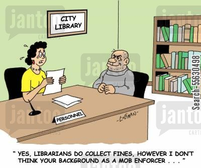 collection agent cartoon humor librarians do collect finds however i dont