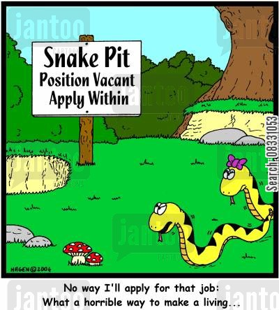 horrible cartoon humor: 'What a horrible way to make a living...'