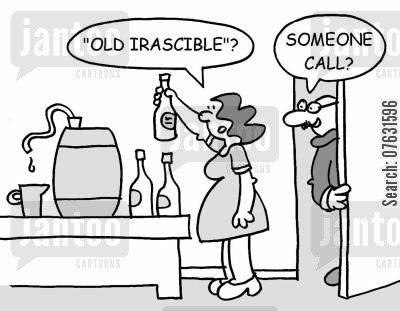 home brewing cartoon humor: Old Irascible? Someone call?