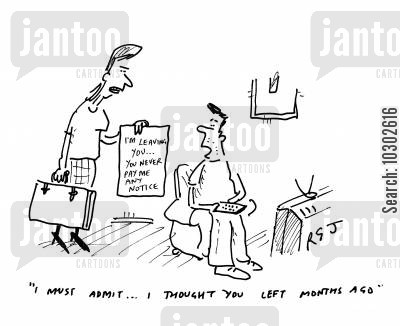 couch potato husband cartoon humor: 'I must admit... I thought you left months ago.'