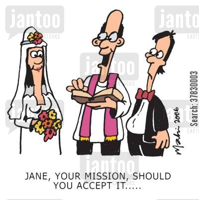 missions cartoon humor: Jane, your mission, should you accept it...