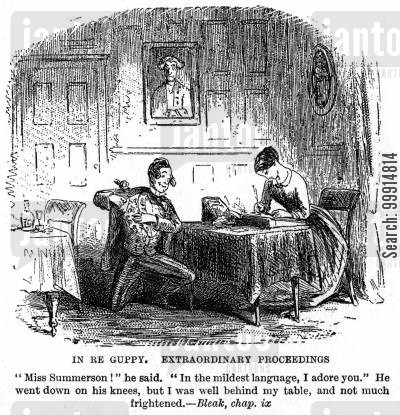 bleak house cartoon humor: In Re Guppy. Extraordinary Proceedings