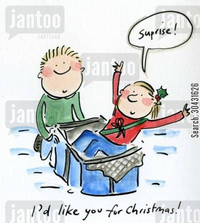pud cartoon humor: I'd like you for Christmas.