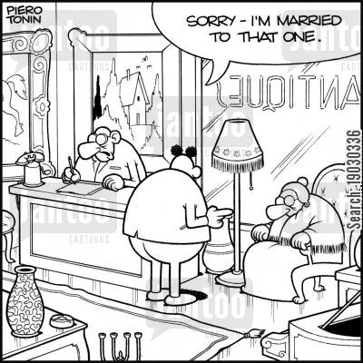 collectible cartoon humor: 'Sorry, I'm married to that one.'
