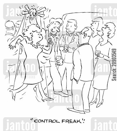 controller cartoon humor: 'Control freak.'