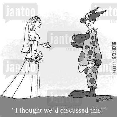 discussions cartoon humor: 'I thought we'd discussed this!'