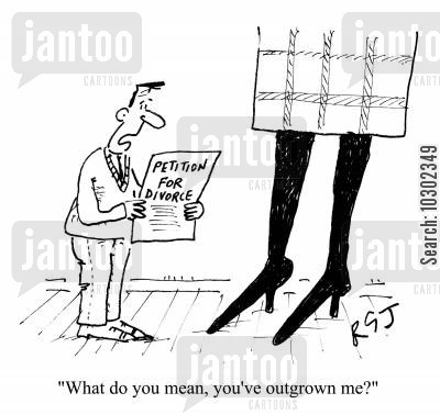 outgrown cartoon humor: 'What do you mean, you've outgrown me?'