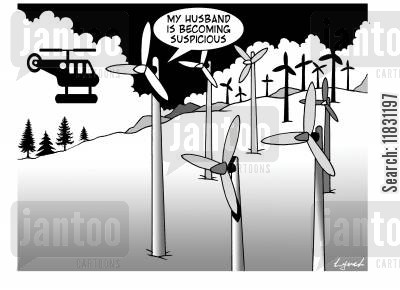 helicopters cartoon humor: My Husband Is Becoming Suspicious.