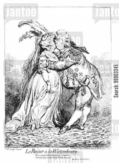 frederick cartoon humor: Frederick of Wurttemburg Greets Bride-to-be, Princess Charlotte