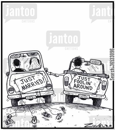 fool around cartoon humor: Just Married Just foolin' around,