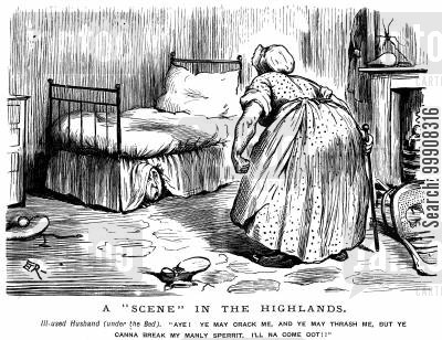 wives cartoon humor: A 'Scene' In the Highlands.