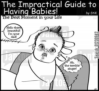 gives birth cartoon humor: The Impractical Guide to Having Babies: 'The Best Moment in your life...'