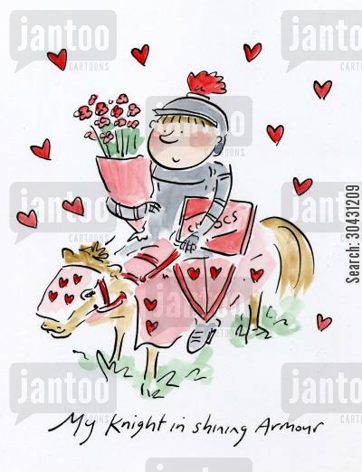 darcy cartoon humor: My Knight in shining Armour.