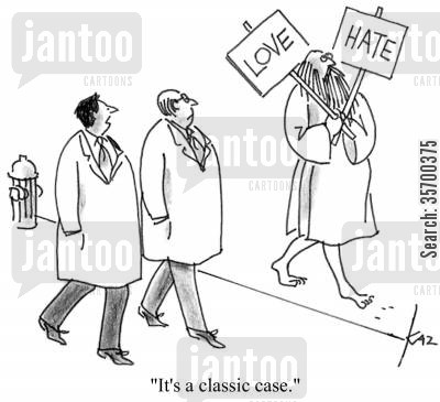 prophets of doom cartoon humor: 'It's a classic case.'