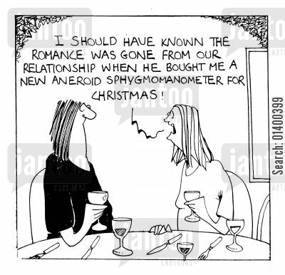down hill cartoon humor: I should have known the romance was gone from our relationship when...
