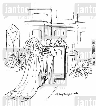 grooms cartoon humor: Under new management.