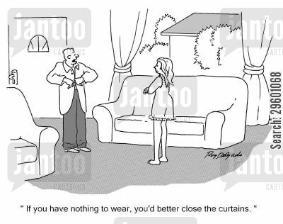 curtain cartoons - Humor from Jantoo Cartoons