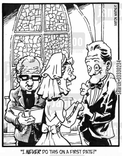 perfect men cartoon humor: 'I never do this on a first date!'