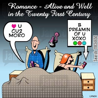 goodnight cartoon humor: Romance - Alive and Well in the Twenty First Century.
