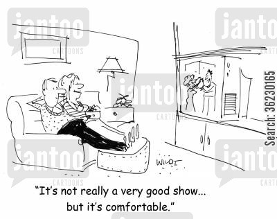 tlelvision show cartoon humor: It's not really a very good show... but it's comfortable.