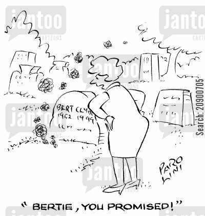 broken promise cartoon humor: 'Bertie, you promised!'