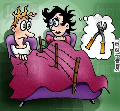 spouse cartoon humor: Marital problems.