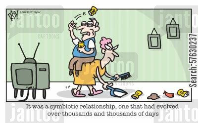 dustpan cartoon humor: 'It was a symbiotic relationship, one that had evolved over thousands and thousands of days'