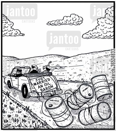 oil rig cartoon humor: Just Married an Oil Baron