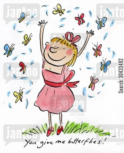 first loves cartoon humor: You give me butterflies!