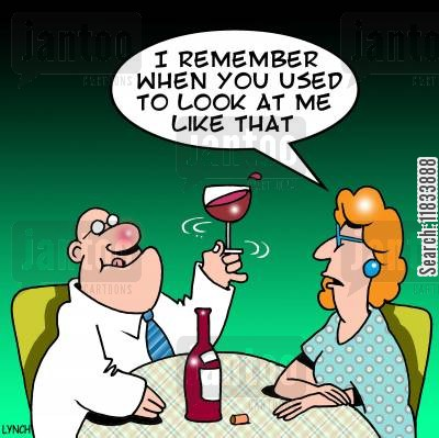 shiraz cartoon humor: 'I remember when you used to look at me like that.'
