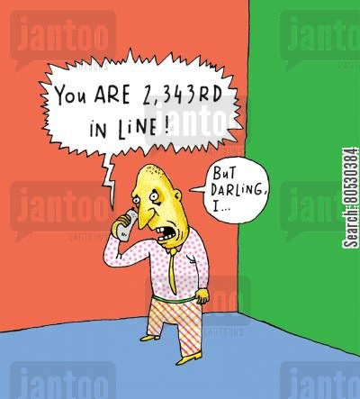 converses cartoon humor: 'You are 2, 3, 4, 3rd in line!'