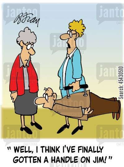 spouse cartoon humor: 'Well, I think I've finally gotten a handle on Jim!'