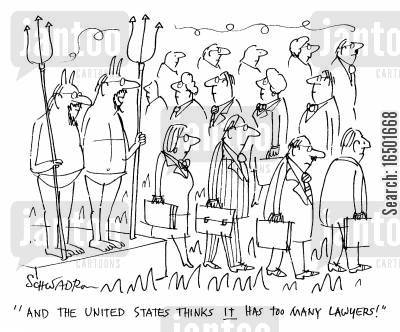 inferno cartoon humor: And the United States thinks it has too many lawyers!