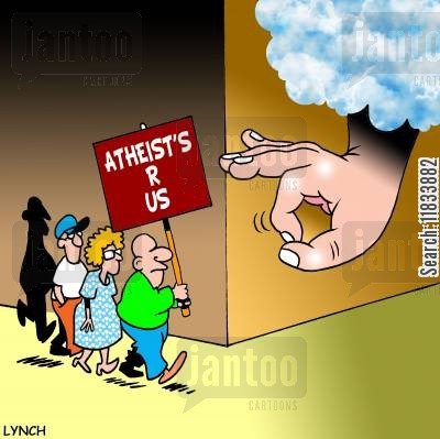extremists cartoon humor: Atheists R Us
