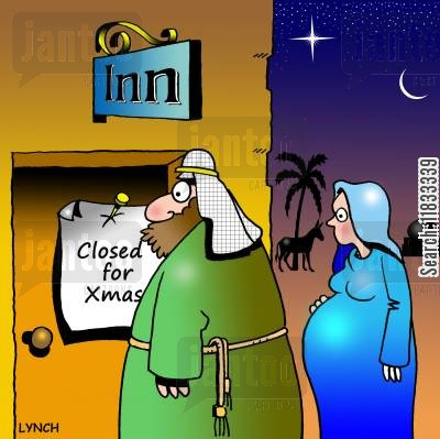 joseph cartoon humor: Inn Closed for Xmas.