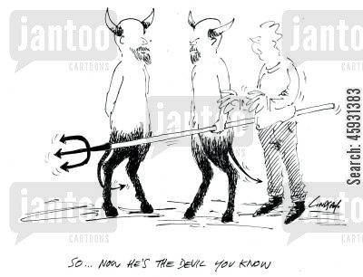 prince of darkness cartoon humor: So... now he's the Devil you know