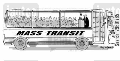 liturgy cartoon humor: Mass Transit