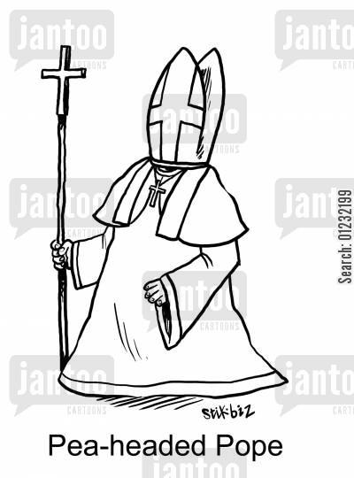 pea-heads cartoon humor: Pea-headed Pope