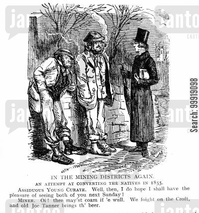 victorian miners cartoon humor: In The Mining Districts Again.
