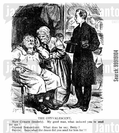 victorian religion cartoon humor: The Convalescent