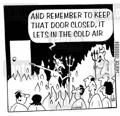 draft cartoon humor: And remember to keep that door closed, its lets in the cold air.