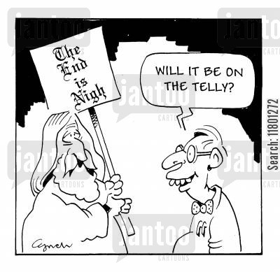 oblivious cartoon humor: Will it be on telly?