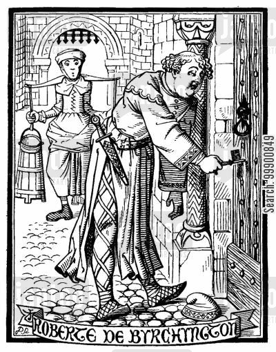 medieval churches cartoon humor: Ingoldsby Legends - Impious Bishop Robert of Birchington