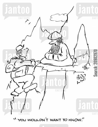 maharishi cartoon humor: 'You wouldn't want to know.'