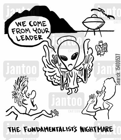 realisations cartoon humor: The Fundamentalist's Nightmare