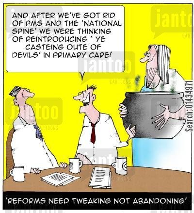 pms cartoon humor: Reforms need tweaking not abandoning.
