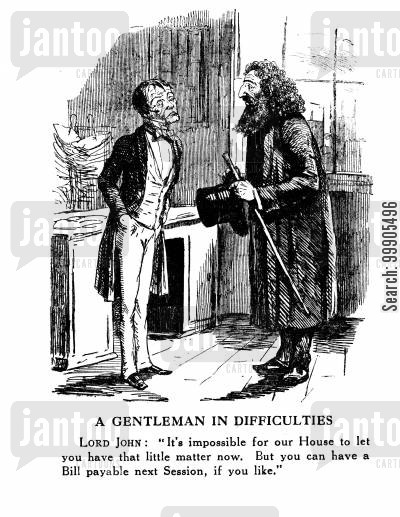 benjamin disraeli cartoon humor: Lord John and the Jews