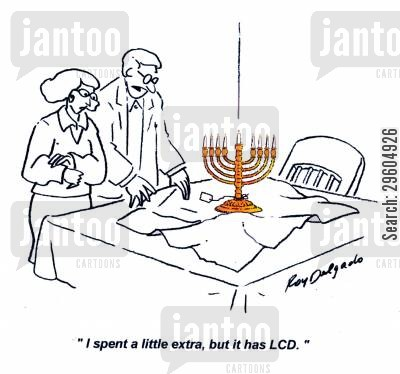 lcd cartoon humor: 'I spent a little extra, but it has LCD.'