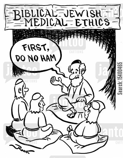 prohibition cartoon humor: Biblical Jewish Medical Ethics